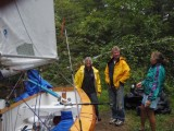 Lots of foul weather gear on day 1