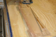 CNC Router Carving the rudder
